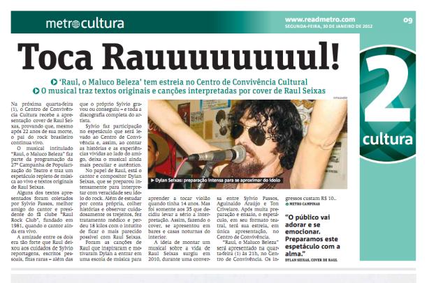 Jornal Metro Campinas/SP