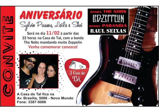 Festa com tributos a Raul Seixas e Led Zeppelin