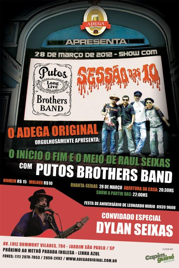 28 de Março - Putos Brothers Band & Dylan Seixas no Adega Original