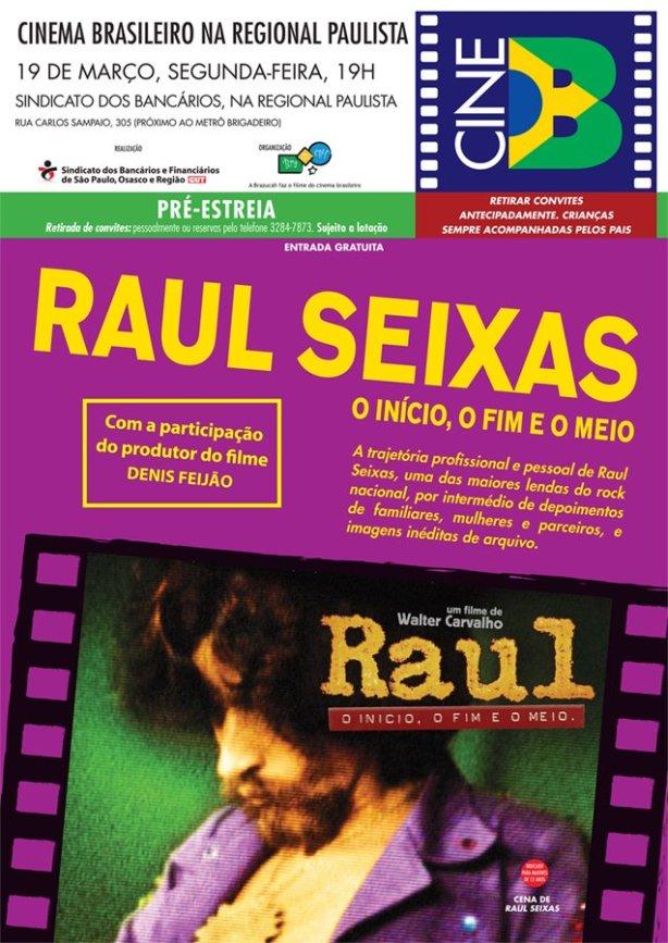 CINE B INICIA 2012 COM PRÉ-ESTREIA DE FILME SOBRE RAUL SEIXAS