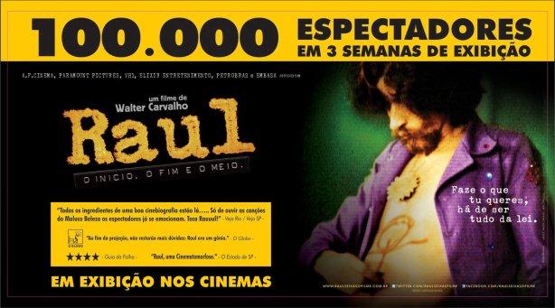 100 mil já viram Raul - O início, o fim e o meio