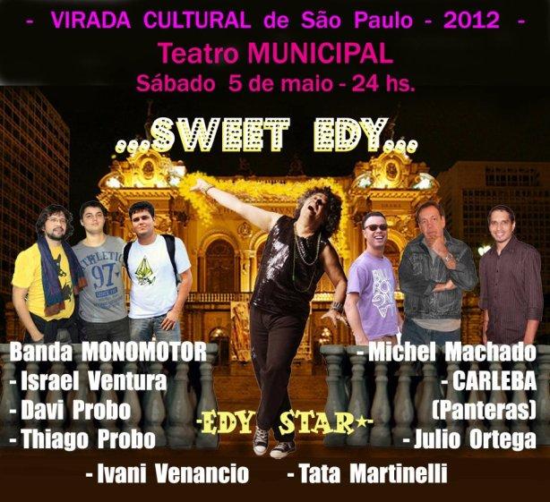 Carleba, baterista d'Os Panteras, tem participação especial no show de Edy Star no Teatro Municipal