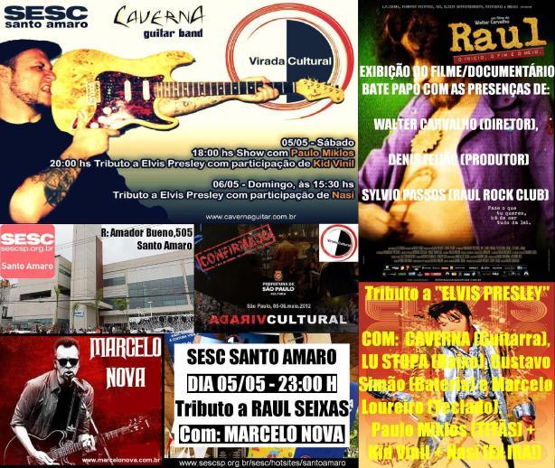 Raul Seixas lembrado em sessões de cinema e no palco do SESC Santo Amaro.