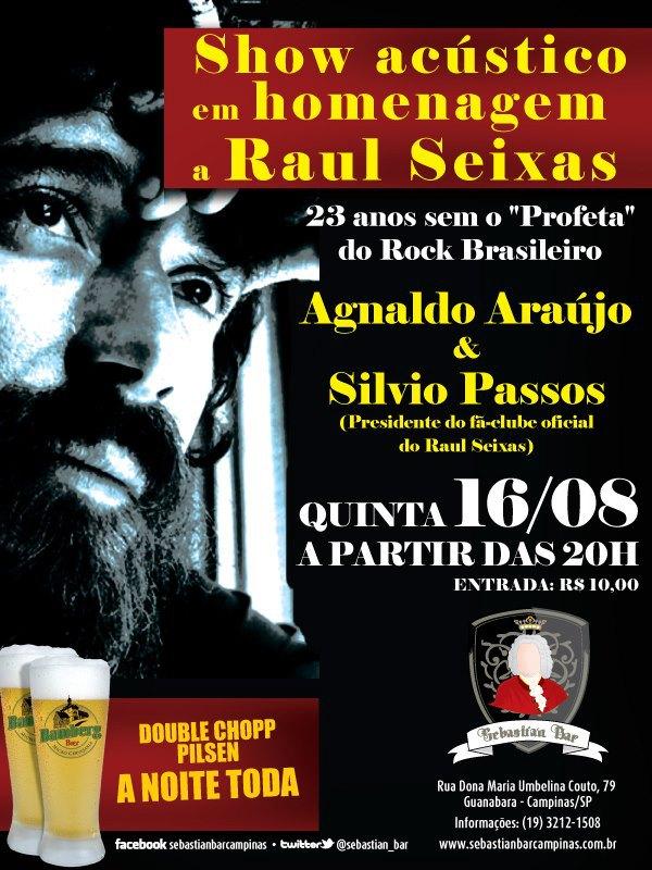 16 - Quinta-feira - Putos BRothers Acústico (Agnaldo Araújo & Sylvio Passos) no Sebastian Bar - Campinas/SP