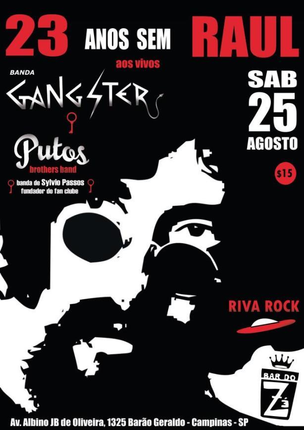 25 - Sábado - Sylvio Passos & Putos BRothers Band no Bar do Zé às 23h30 - Campinas/SP