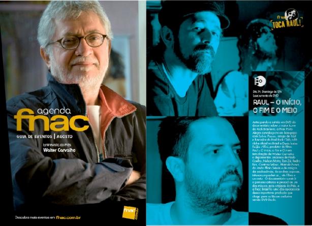 Agenda FNAC Agosto 2012 - Clique e confira programação TOCA RAUL!
