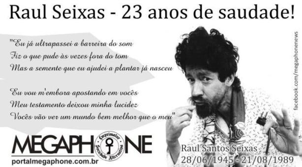 Passeata relembra os 23 anos sem Raul Seixas, hoje, em SP