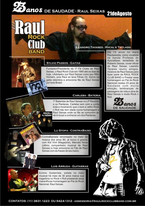 """Esboço do último projeto de Leandro a Raul Rock Club Band, ou como ele dizia: """"Meu Sonho Maluco""""."""