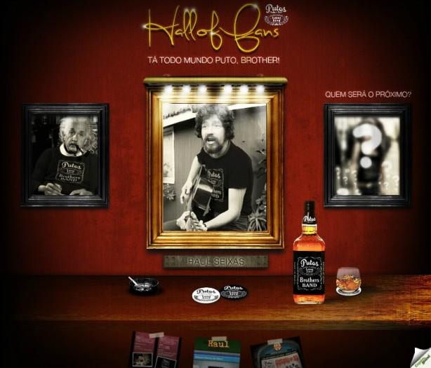 """Raul Seixas homenageado na """"Hall of Fans"""" da Putos BRothers Band."""