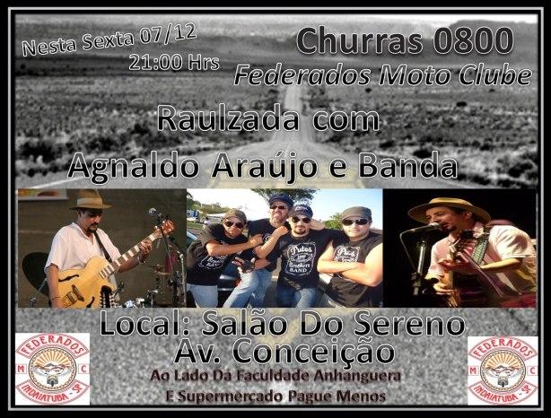 Raulzada com Agnaldo Araújo & Banda na próxima sexta-feira em Indaiatuba/SP