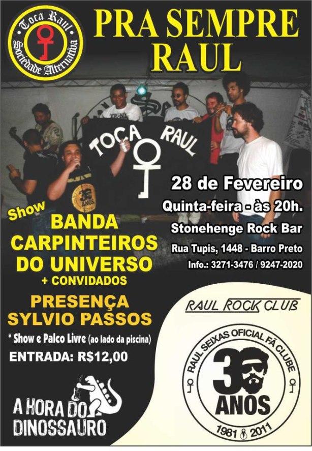 Raul Seixas lembrado em show na próxima quinta-feira em Belo Horizonte.