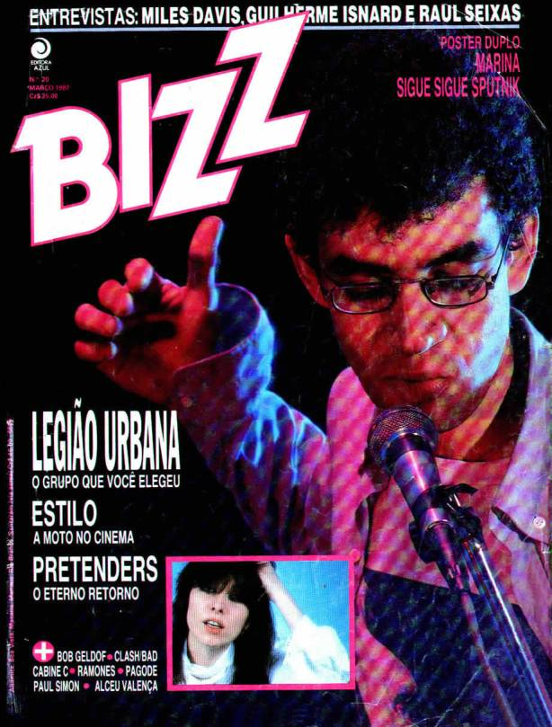 Capa Revista Bizz Edição de Março de 1987.
