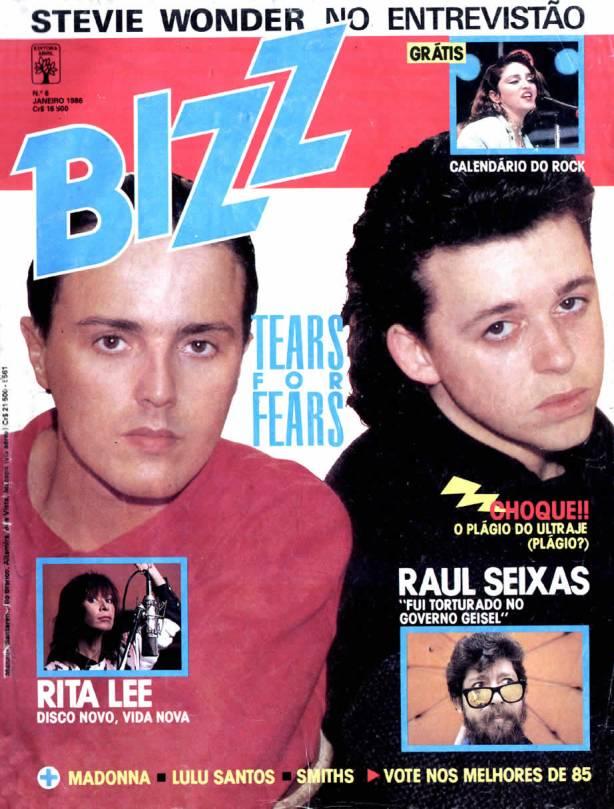 Capa Revista Bizz - Edição de janeiro de 1986