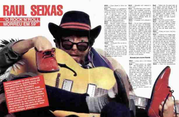 Raul Seixas em entrevista para Revista Bizz, edição de janeiro de 1986.
