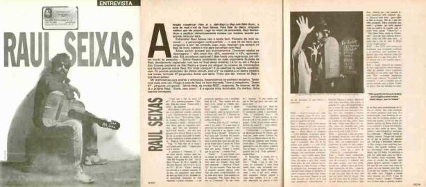 Raul Seixas no entrevistão da Revista Bizz em março de 1987 por Sonia Maia