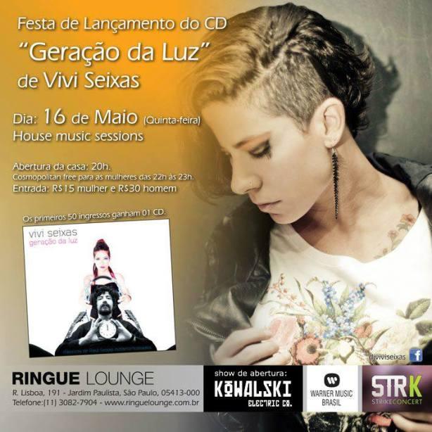 Vivi faz apresentação amanhã no Ringue Lounge em São Paulo. Clique na imagem e confira.
