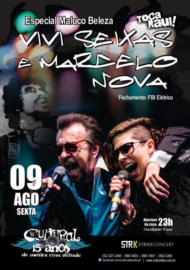 Vivi Seixas & Marcelo Nova estarão sábado em Juiz de Fora/MG no Cultural Bar.